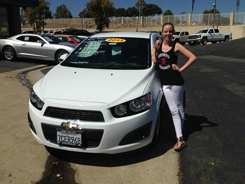Our Happy Customer With Her New Chevy Sonic