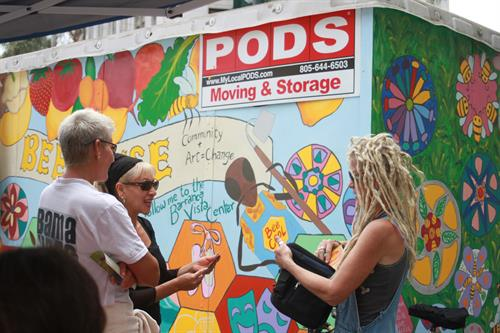 PODS Pop-Up Gallery transformed by M.B. Hanrahan and Vita Art Center Students at ArtWalk Ventura