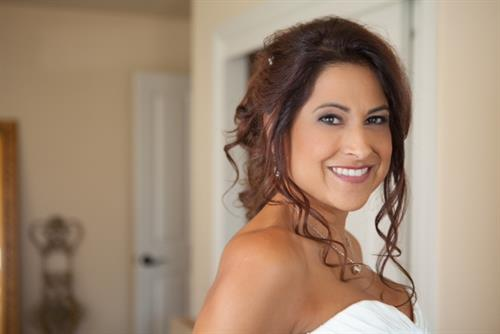 Bridal makeup and updo