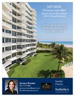 Direct oceanfront condo sold in the Banyan House, Delray Beach