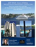 Intracoastal condo sold in the Court of Delray, Delray Beach