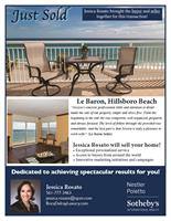 Direct oceanfront condo sold in Le Baron, Hillsboro Beach (Buyer and Seller)