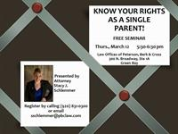 Free legal seminar: Know Your Rights as a Single Parent!