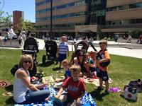 Family fun during Lunchtime Live concert