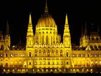 Budapest, Hungary - Parliament building at a night.  What a sight