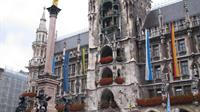 Munich, Germany Marketplatz with Glockenspiel