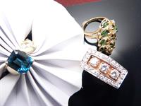 Colored gemstone rings