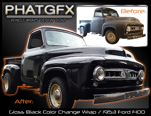Color Change 53 Ford - gloss black wrap