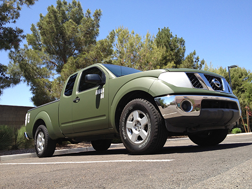 Military Olive Drab Color Change Wrapped Nissan Frontier