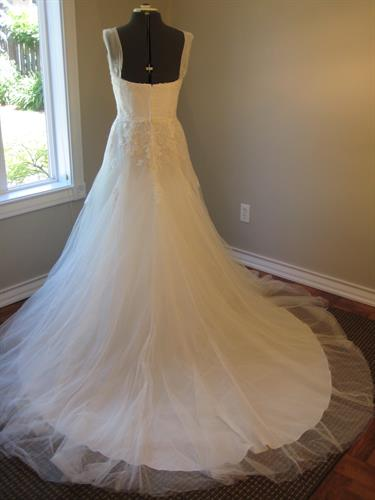 Wedding Gown- Before Train Is Removed