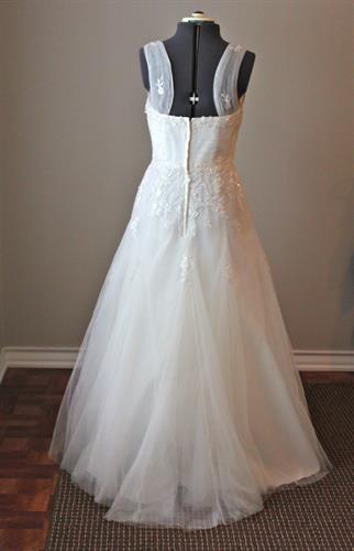 Wedding Gown- After Train Is Removed