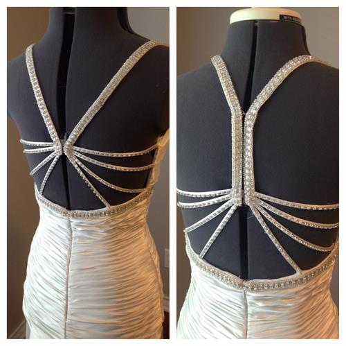 Before and After- Wedding Gown Strap adjusted