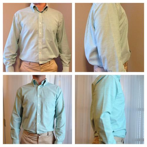 Before and After- Men's Shirt Taper Side Seams