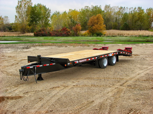 Deck-over tag trailer.
