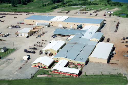 Overhead shot of Towmaster plant and headquarters.