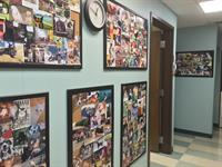 Hallway with Pet Pictures