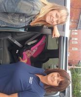 Car Seat Technicians Cessi Pritchert and Lisa Williams