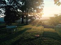 Sunrise at the Ridgeview Motel. How would you like to wake up to this every morning?