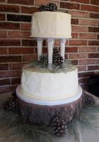 Tiered Forest Wedding Cake