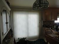 Completed installation of curtain rod