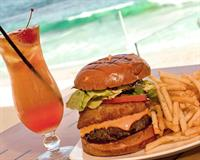 OceanView Bar & Grill's famous 50/50 Burger at Hotel Laguna