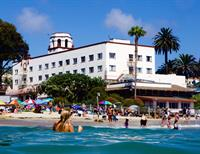 Hotel Laguna and its private beach in the heart of Laguna Beach
