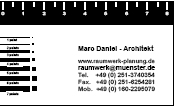 Graphic Design (business card marc daniel)