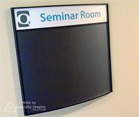 Directory Signs with easy to change inserts