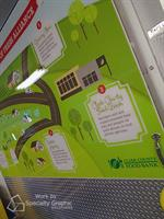 Custom commercial refrigerator graphics panel for Clark County Food Bank