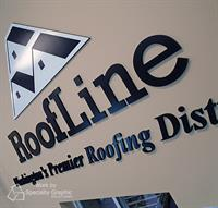 Dimensional Lobby Sign for Roofline Supply