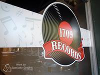 Door graphics for 1709 Records