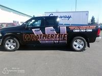 Partial vehicle wrap for Weathertite