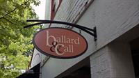 Double Sided Blade Sign for Ballard & Call