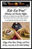Kids eat free Monday's and Tuesday's
