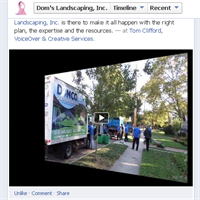 "Dom's Landscaping ""Transformation Landscape"" video as Audio/Video/Social Specialists with TCMMT"