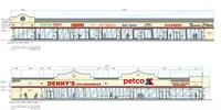Exterior paint elevations for existing shopping center