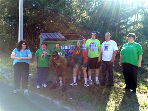 The Arc Nature Coast went GREEN this St. Patrick's Day!