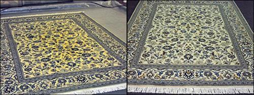 Oriental Rug - before & after
