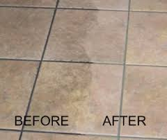 Ceramic Tile & Grout Cleaning - BEFORE & AFTER
