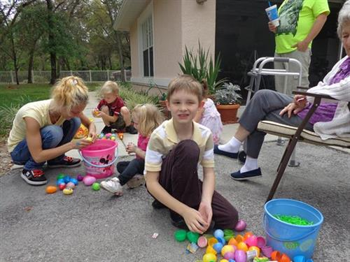 Family Easter Egg hunt