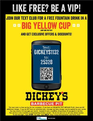 Be a VIP!!  Join our TEXT CLUB today!!  Exclusive discounts and offers!!