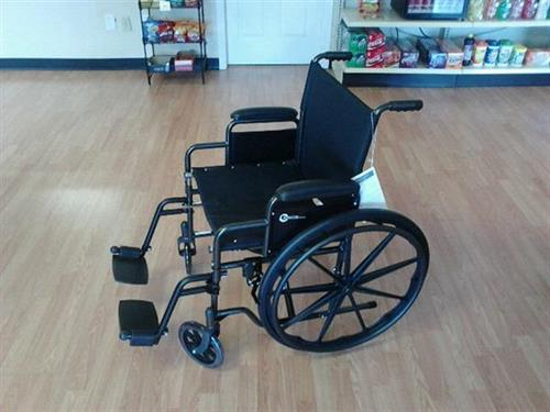 Several lines of new and used wheelchairs!