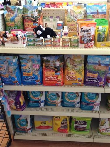 Pet food, health and beauty, cosmetics, gifts, and gift cards too.