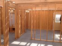 Interior walls, set at 16 versus standard 24 inch.