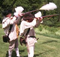 Saratoga NHP Musket Crew provides a musket demonstration