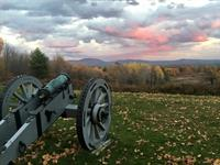 Autumn sunset at Saratoga Battlefield