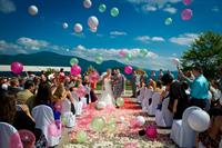 Wedding ceremony at The Sagamore Resort on Lake George, NY