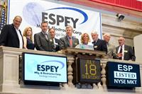 Espey rings the closing bell at the New York Stock Exchange