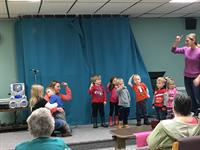 Jumper Bean Daycare performing songs they have been practicing