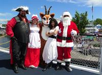 Christmas in July! You just never know what you are going to see when aboard the Mount!